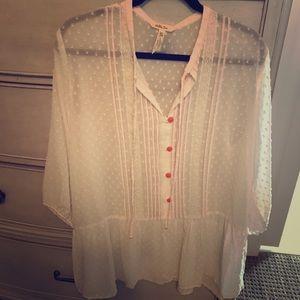 Matilda Jane sheer cream blouse